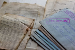 Old letters and documents Stock Photography