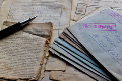 Old letters and documents Royalty Free Stock Photo