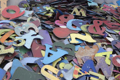 Old letters at flea market background Stock Images