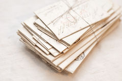 Old letters. Old handwritten letters on the table Royalty Free Stock Image