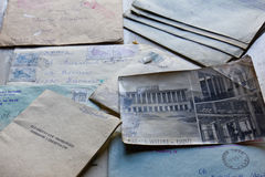 Old letters and notebook Stock Photography