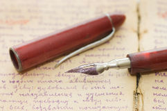 Old letters and pen still life Royalty Free Stock Image