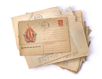 Old letters. Vintage background Royalty Free Stock Image