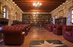 Old Library. Inside the castle in Budva stock photo