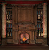 Old library. Illustration of an old privat library at a mansion royalty free illustration