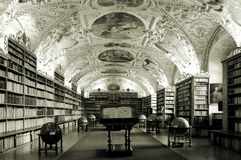 Old library. Old university library in Prague, Czech Republic Royalty Free Stock Photo