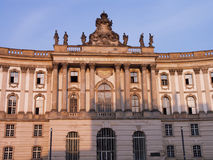 Old library Berlin University. Front view of the Humboldt University of Berlin, Germany.  The old library (fomer royal libraryb) is located at famous Bebeplatz Royalty Free Stock Photography