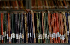 OLD LIBRARY BOOKS Stock Image