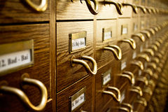 Old Library Card Catalog Royalty Free Stock Photography