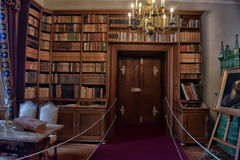 Old library in the castle Stock Image