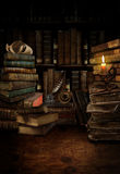 Old library desk. Digital photo manipulation of a fantasy inspired old desk in a library or study Stock Photos