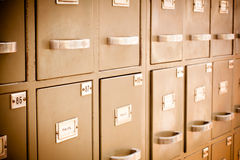 Old library filing cabinet Royalty Free Stock Photography