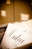 Old library index card Royalty Free Stock Photography