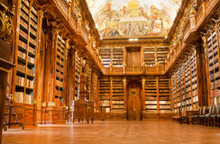 Old library in the Strahov monastery royalty free stock photo
