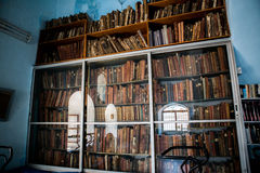 Old library. In Zefat old city, Israel royalty free stock photography