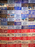 Old license plates Stock Photos