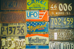 Old license plates Stock Images