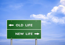 Old Life - New Life Stock Images