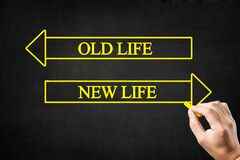 Free Old Life Or New Life Arrows Concept. Stock Photography - 191572102