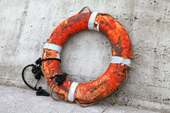 Old lifebuoy Stock Photography