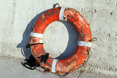 Old lifebuoy royalty free stock photos
