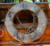 Old lifebuoy. On the ship stock photography
