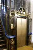 Old lift in UK Stock Photo