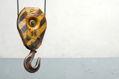 Old lifting hook Royalty Free Stock Images