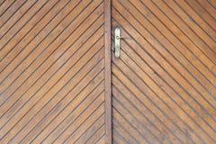 Old light brown door texture Stock Photography