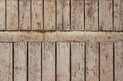 Old light brown wooden door Stock Images