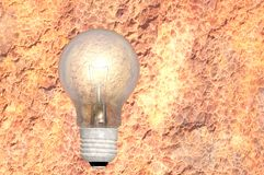 Old light bulb. Antiquated outdated obsolete tungsten light bulb concept render Stock Image