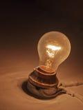 Old Light bulb on wall Stock Photos