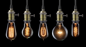 Old light bulbs Stock Photos