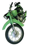 Old light green motorbike Stock Images