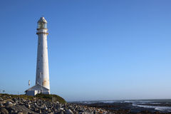 Old Light House. The classic old light house in Kommetije outside Cape Town, South Africa Royalty Free Stock Photo