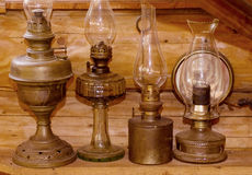 Old light kerosene lanterns Stock Photo