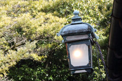 Old light lantern with roof Royalty Free Stock Photography
