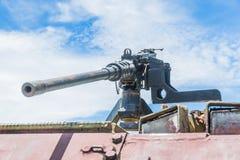Old light machine gun. Light machine gun on the old tank Stock Photography