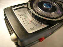 Old light meter. Old hand held light meter royalty free stock photography