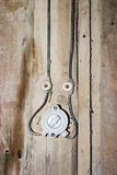 Old light switch. On a wooden wall Stock Images