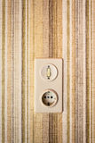 Old light switch Stock Photography