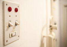 The Old Light Switch Stock Photo