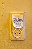 Old light switch royalty free stock image
