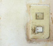 old light switch Royalty Free Stock Images