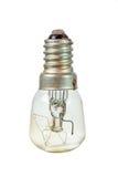 Old lightbulb over white Stock Images
