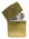 Old Lighter. Brass Lighter Royalty Free Stock Photos