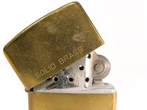Old Lighter. Brass Lighter Royalty Free Stock Images
