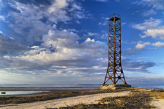 The old lighthouse. In the delta of the Northern Dvina Royalty Free Stock Images
