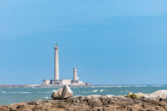 The old Lighthouse of Barfleur, France, Normandy 2015 Royalty Free Stock Photos