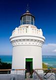 Old lighthouse at Cape San Juan royalty free stock photo